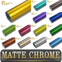 2015 New Products 3M Quality Matte Chrome Car Wrap Vinyl for Car Styling