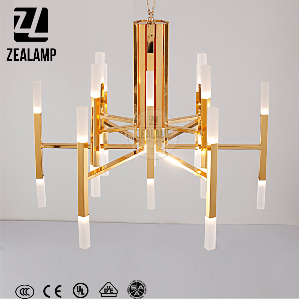 ZLC220P Nordic Fashion Designer Postmodern Pendant Lamp Bamboo Hanging Light Hotel Bar Chandelier
