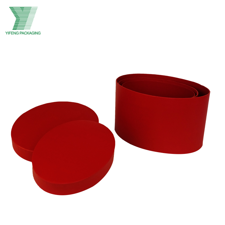 Special Design Fancy Custom Red Oval Shaped Packing Paper Tube Gift Box