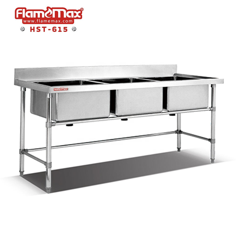 Hst 615 Stainless Steel Fish Cleaning Table With Sink In Foshan Buy Triple Sink Bench Table Top Sink Kitchen Stainless Steel Sink Work Table Product
