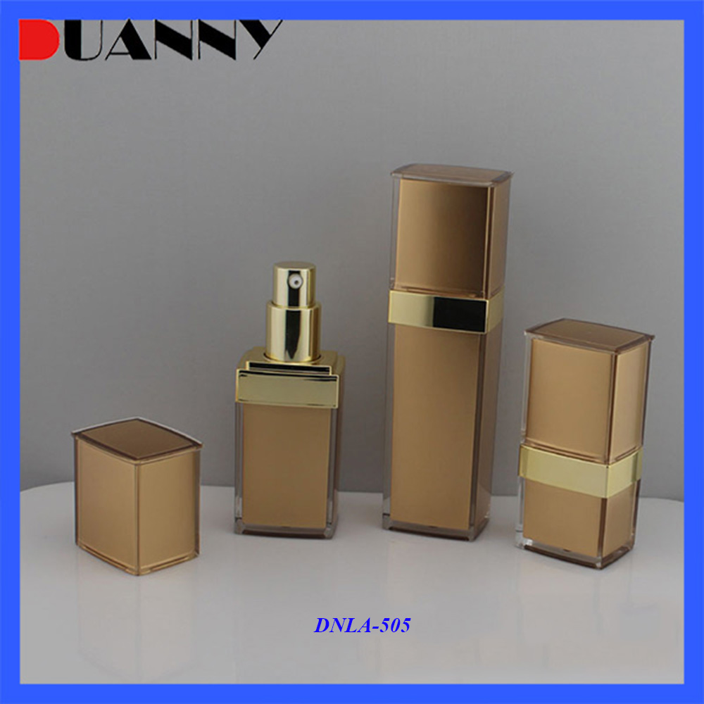 Bottle Container, Cosmetic Bottles Spray and Pump, Acrylic Golden Lotion Pump Bottle 15ml 30ml 50ml