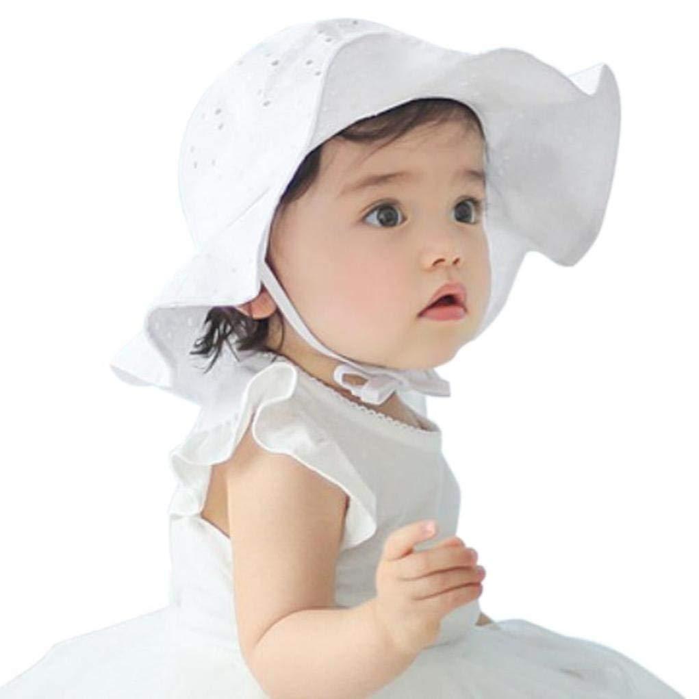 4aa81f97 Get Quotations · BUYEONLINE Toddler Infant Kids Sun Cap Girls Boys Soft Sun  Brim Beach Hat
