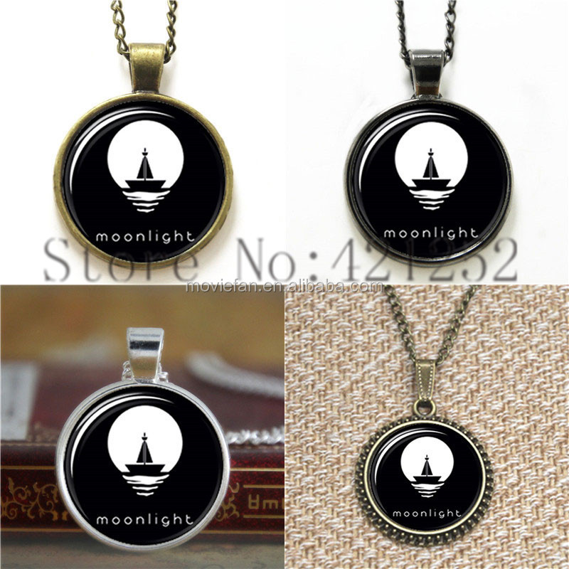 Moonlight Pattern middle of the night the ship necklace keyring bookmark cufflink earring