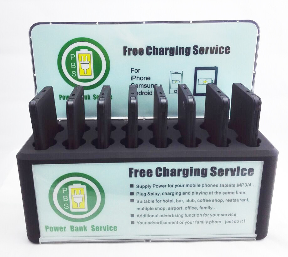 8pcs 4000mah Restaurant Power Bank Charging Docking 5v 2a