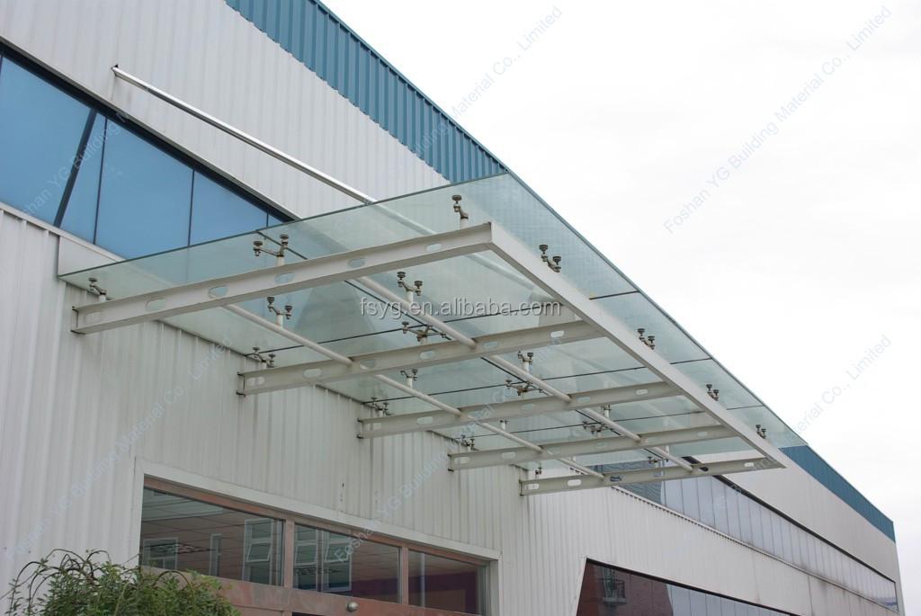 Custom made steel frame glass canopy balcony shelter buy for Balcony canopy