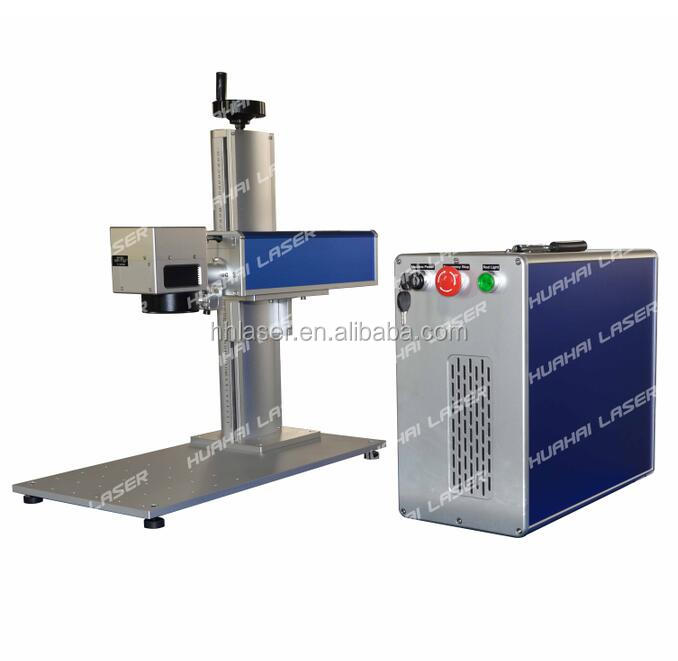 20w Mopa fiber laser marking machine for aluminum plate printing with black logo