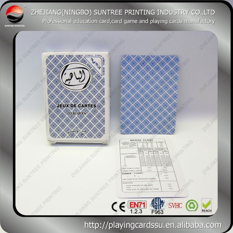 China manufacturer Embroidery Poker Cards With Custom Special Design