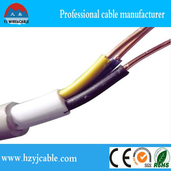 300/500v 3 Core Solid Copper Wire,Pvc Double Sheathed Electrical ...