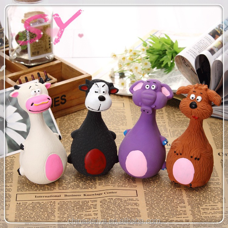 Naughty dog toys cute pet cat dog latex toy sound bite-resistant teeth dog toy
