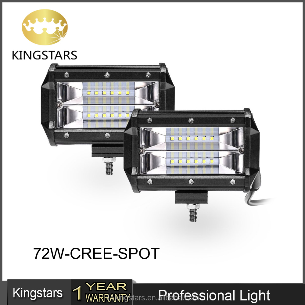 Kingstars 2018 Newest <strong>CREES</strong> 72W Led Work Lights 1620LM LED Light Bar Spot beam 36W Led Work Lights
