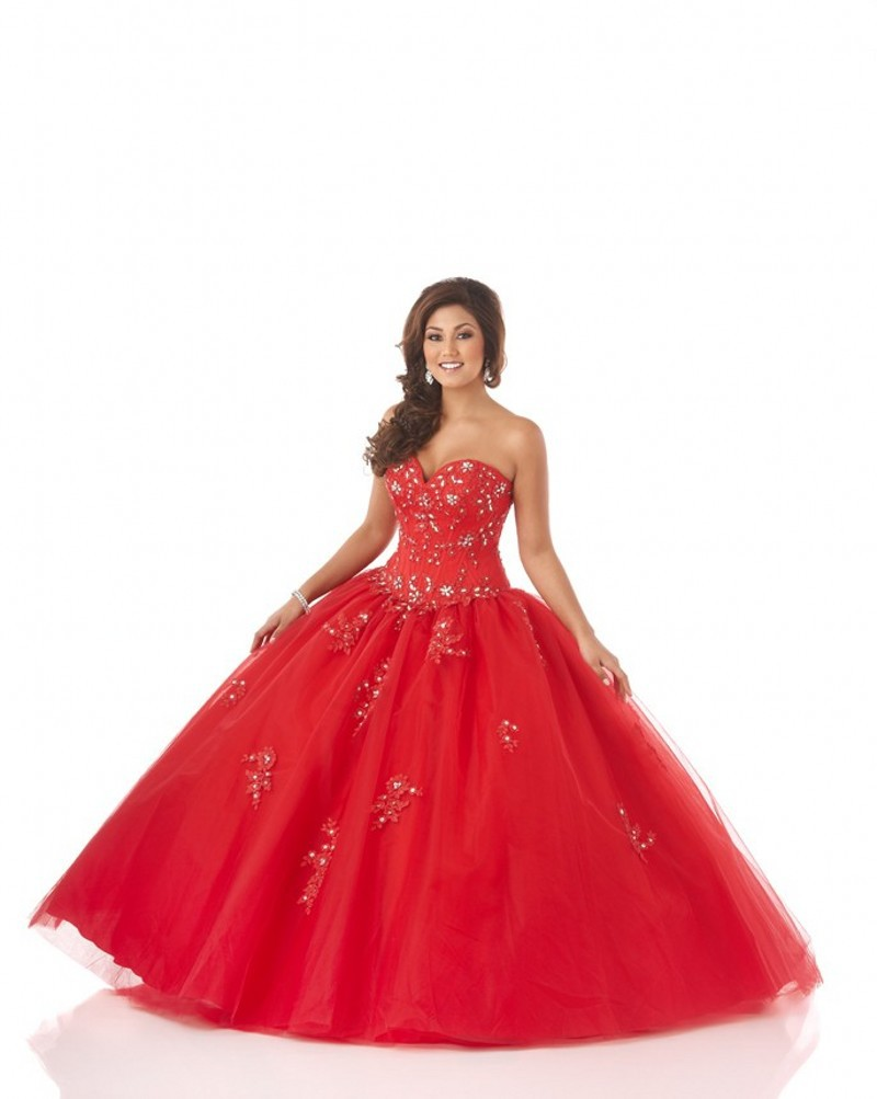 Buy Hot Sale Ball Gown Tulle Cheap Quinceanera Gowns Quinceanera