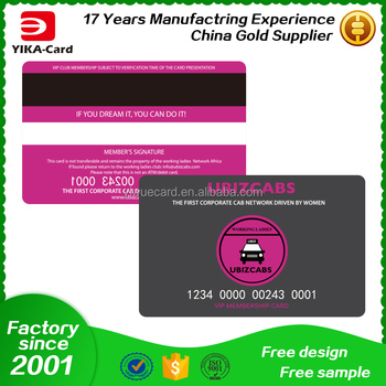 Thickness 076mm Plastic Card Printing Plastic Business Card Both