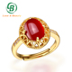 Red Agate Rings Guangzhou Stone Jewelry Factory Agate Finger Ring