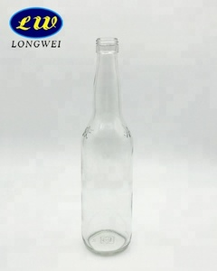 new style custom made high quality recycled glass clear beer bottles