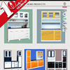 Wholesaler top grade kitchen cabinets two colors modular kitchen designs