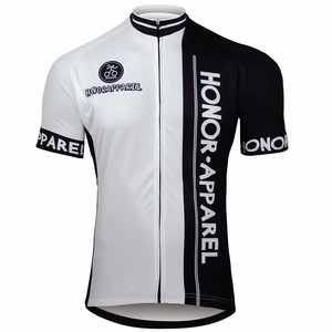 Custom design Cycling wear full zip Short Sleeve with digital printing cycling jersey honorapparel