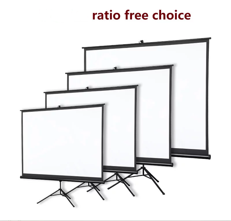 16:9 80inch Portable Tripod Projection Screen Tripod projector screen