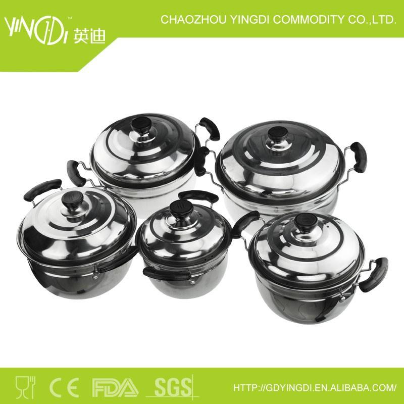 5 pcs stainless steel stockpot