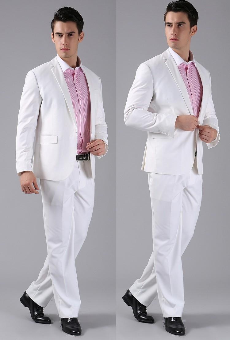 (Kurtki + Spodnie) 2016 Nowych Mężczyzna Garnitury Slim Fit Niestandardowe Garnitury Smokingi Marka Moda Bridegroon Biznes Suknia Ślubna Blazer H0285 42