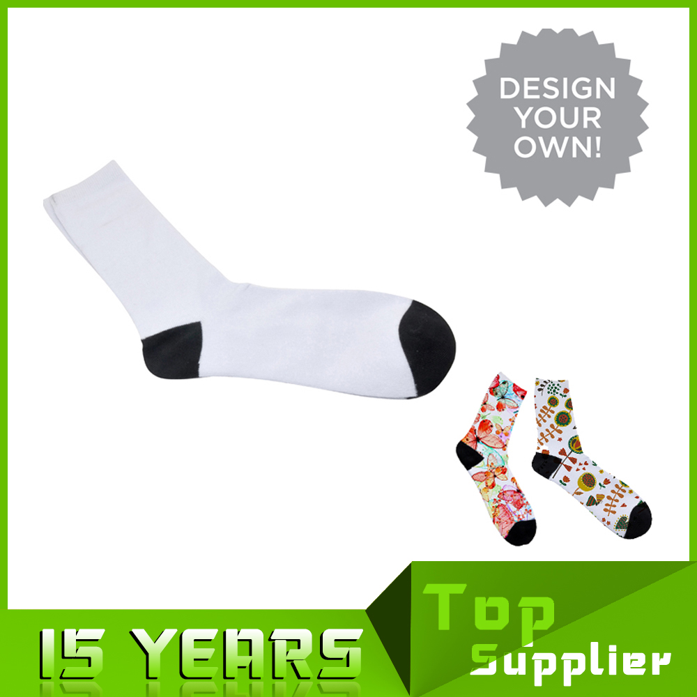 New Custom Sublimation Printing Christmas Running Socks