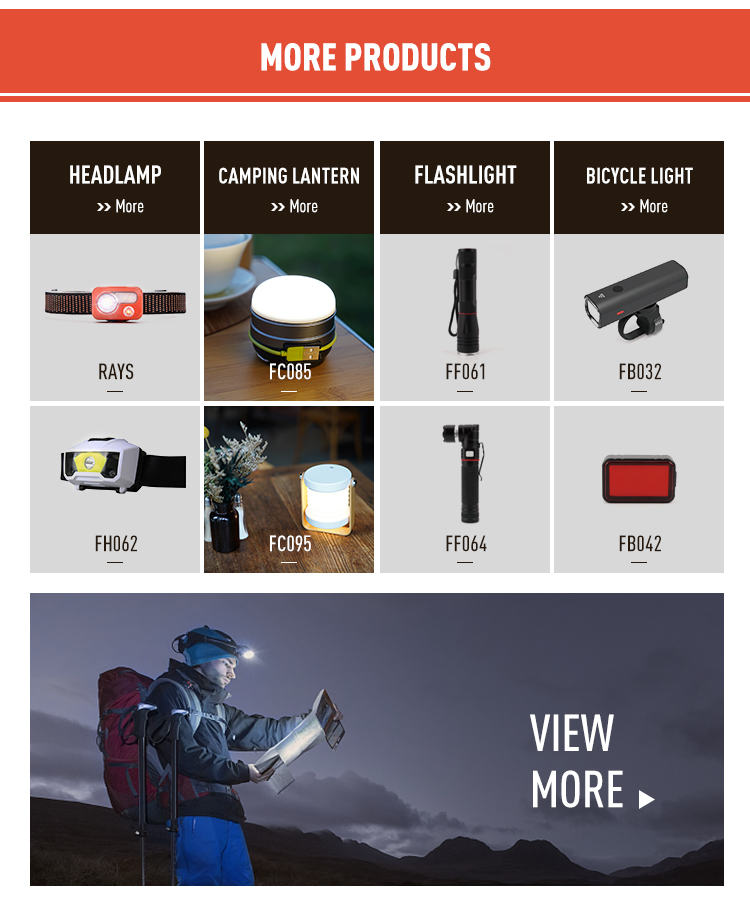 wholesale waterproof different colors portable ABS material hike camp high power outdoor led headlight headlamp