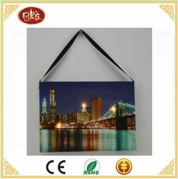 20*15CM Wall Painting Beautiful City Bridge View Decorative Art Print Drawing On Canvas for Home Decoration