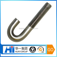 custom stainless steel m20 j bolt,j roofing bolt manufacturer
