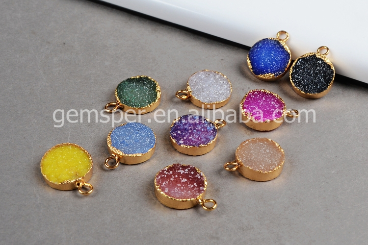 12mm round agate druzy stones charms pendant wholesale for 12mm round agate druzy stones charms pendant wholesale for necklace bracelet mozeypictures Gallery