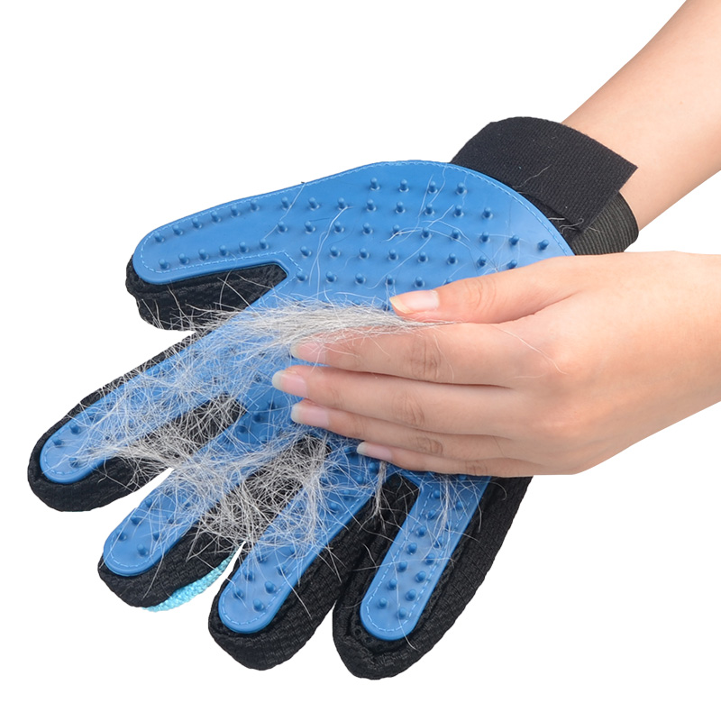 New Pet Hair Removal Groom Glove Dog Massage Brush Glove For Shedding