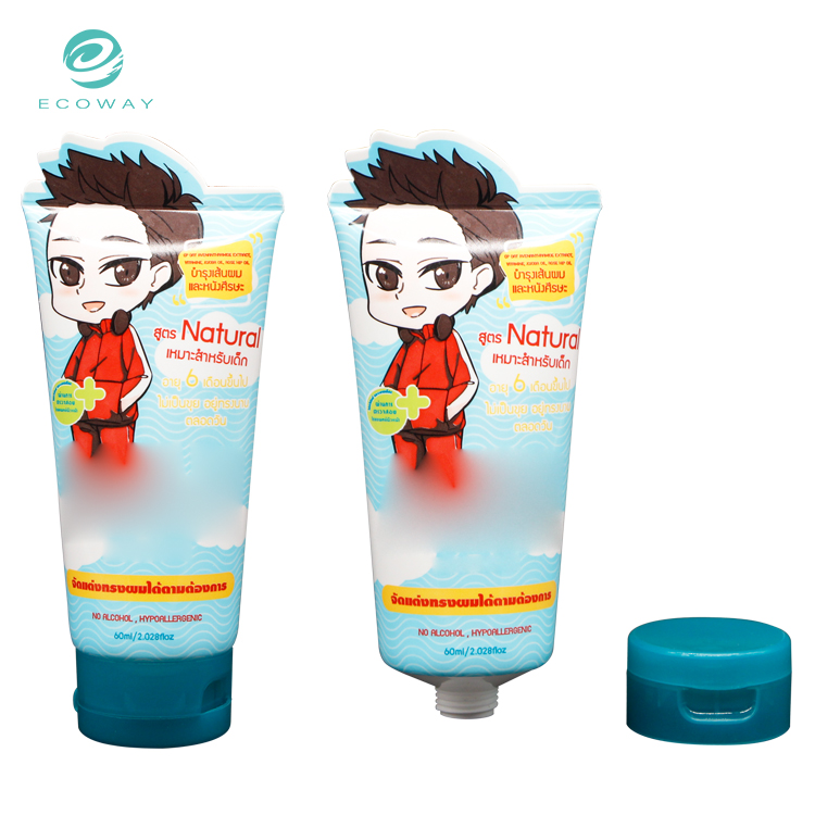 60ml soft customized plastic lotion hand cream empty cosmetic tube
