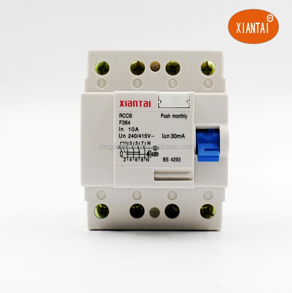 Highly Quality Residual Current Circuit Breakerf362 F364 Rcd Rccb Id Breaker Elcb China F362 Rcb