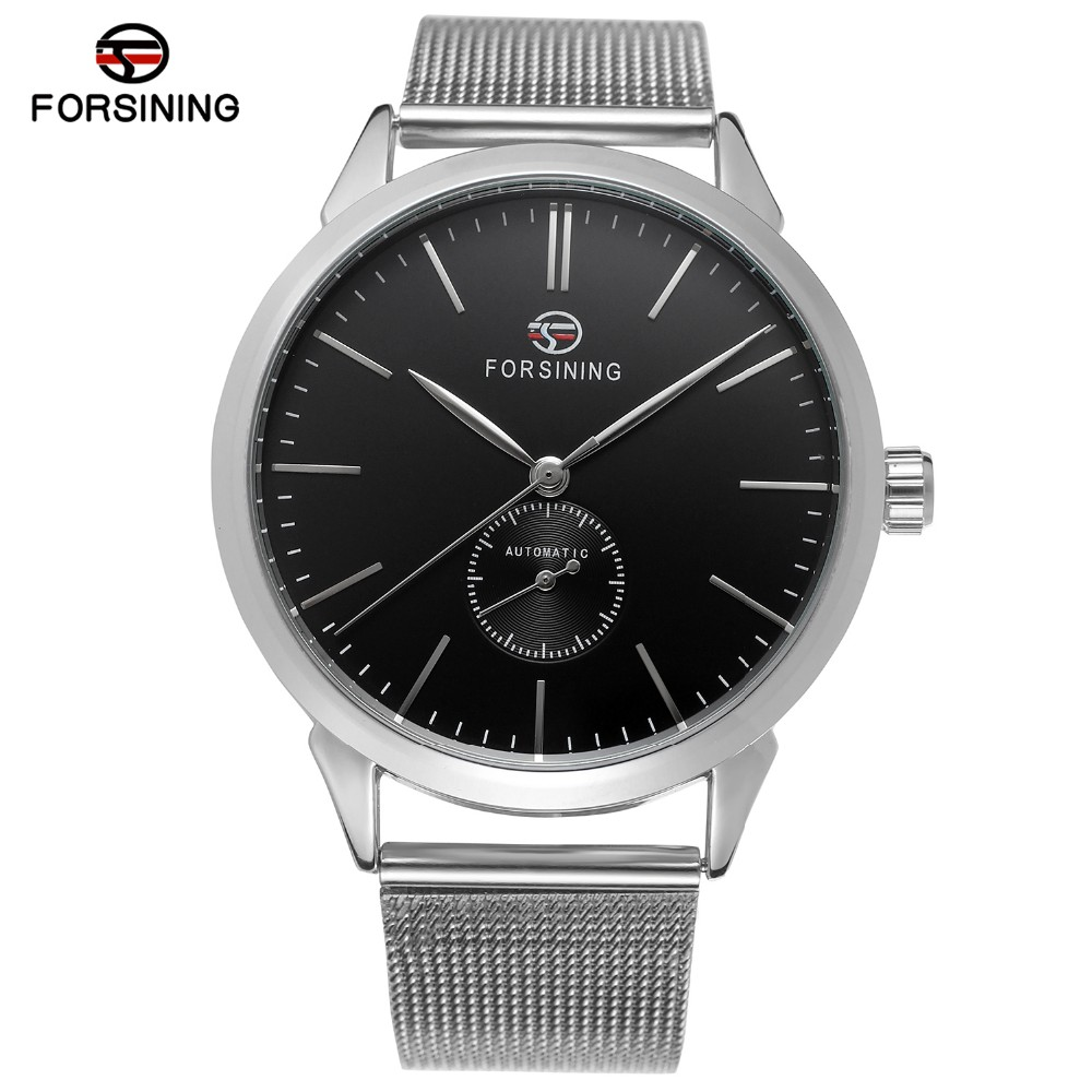 stainless forsining steel watches wrist movt bracelet chinese product new tangan mesh automatic branded style jam reloje detail
