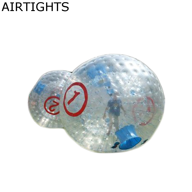 Outdoor zorb ball race game transparent human bowling ball for entertainment