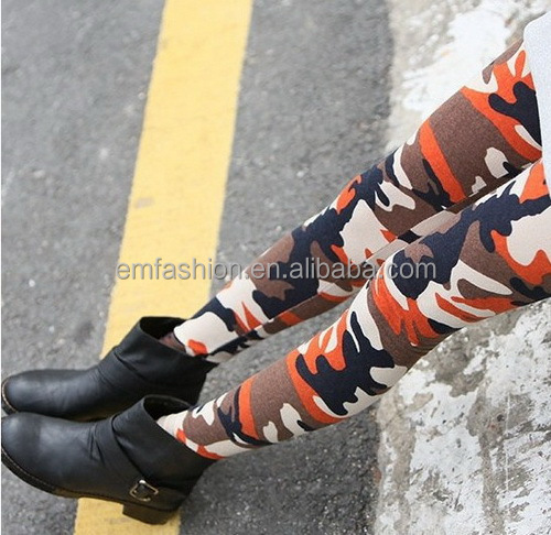 Fashion New Ladies Colorful Army Camouflage Print Sexy Stretch Pants Legging