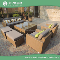 Wholesale cheap cube cebu resin wicker synthetic poly plastic rattan woven outdoor patio furniture for sale