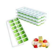 BPA gratis duurzaam vormige custom siliconen ice cube tray/ice maker/ice tray mold