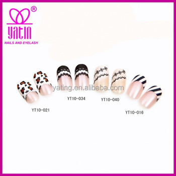 Dress Design Artificial Nail Art Tipselegant Full Cover Fake Nails