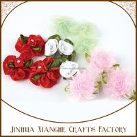 softtextile fabric flower rose silk ribbon flowers