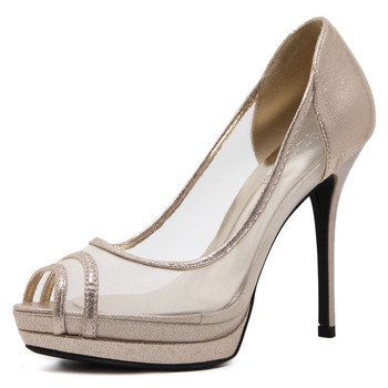 Sexy Peep Buy Toe Toe Malla Altos La Las Tacón Alto Zapatos De tacones Plataforma Sandalias Transparente Mujeres 80PZnkNwOX