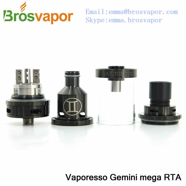 2016 Most Popular Vaporesso Gemini mega RTA 4.5ml top filling pre built clapton coil