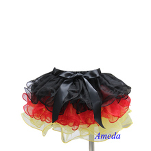 Girls World Cup Germany Black Red Yellow Petal Tutu 1-7Y