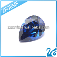 Zuanfa Pear Cut Sapphire Blue Synthetic Jade Glass Stones