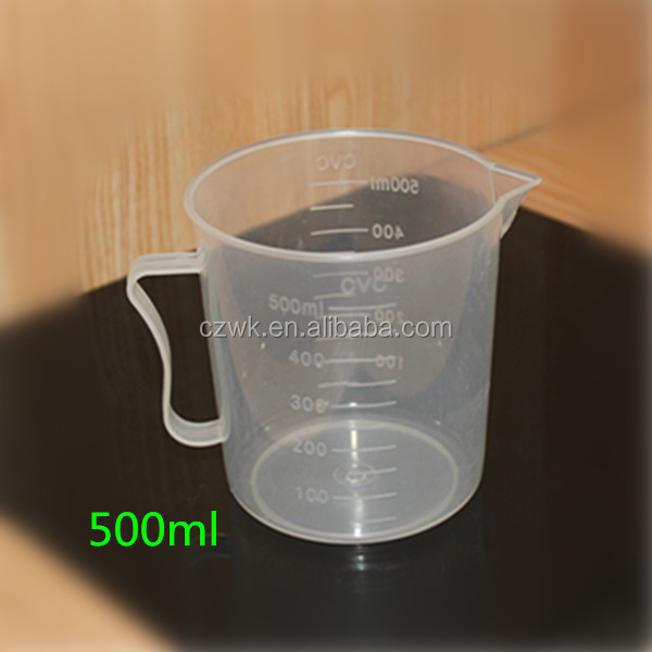 Laboratory 500ml Plastic Measuring Beaker With Spout And ...