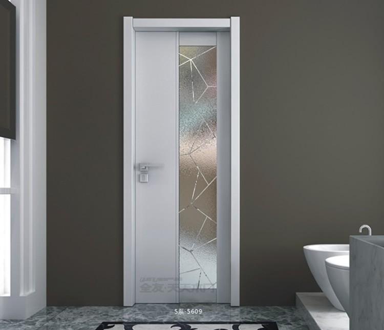 Tama o est ndar marco de madera vidrio esmerilado puerta for Puertas con vidrieras decorativas