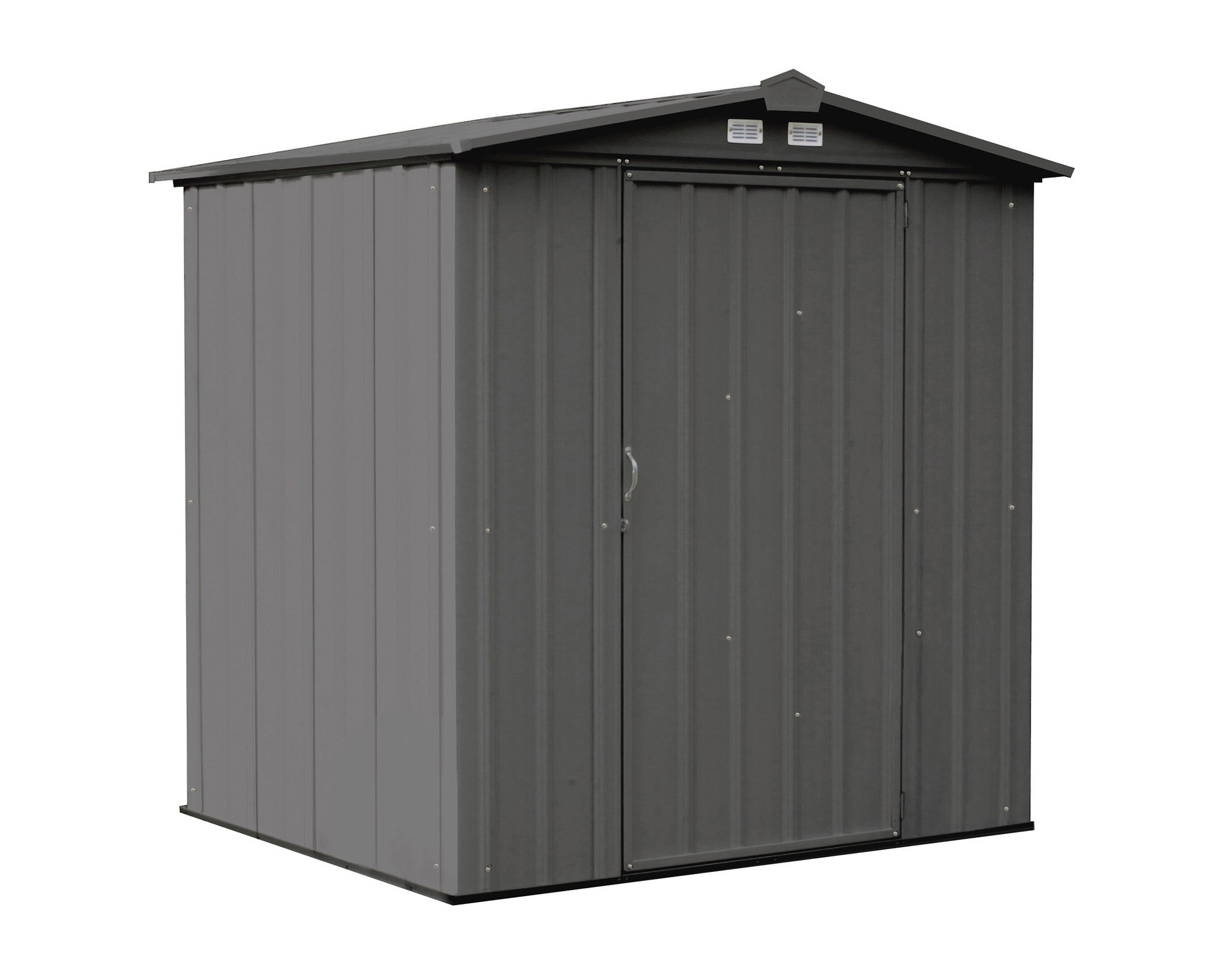 Get Quotations · Arrow EZEE Shed Low Gable Steel Storage Shed, Charcoal, 6  X 5 Ft.