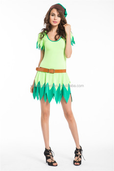 woman green sexy fairy cosplay tinkerbell fancy dress costume halloween adult