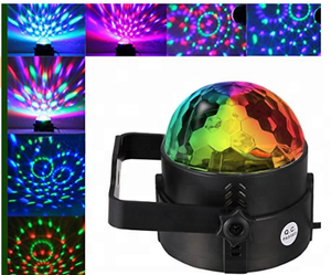 led strobe light stage 7 Colors Sound Activated Stage Light led ball moving head