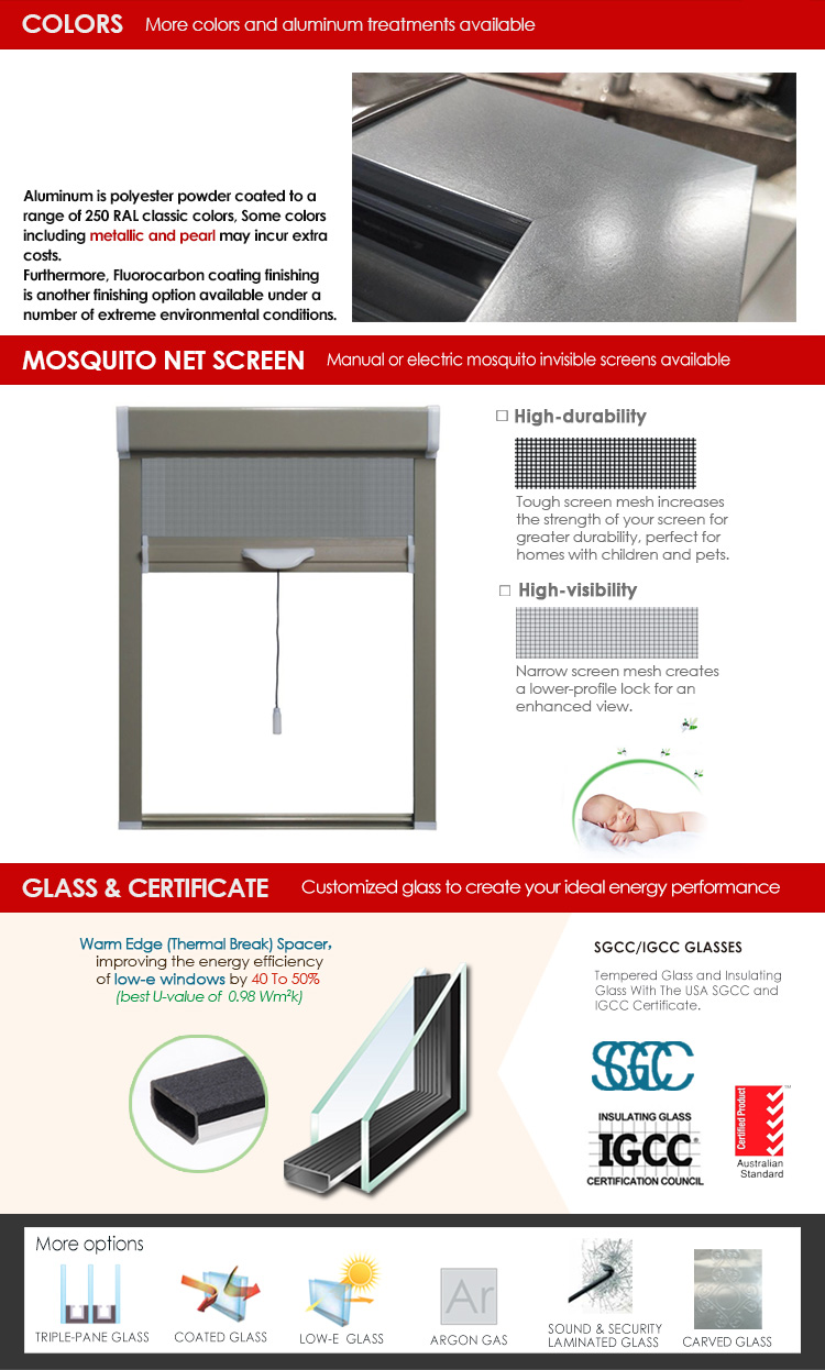 Factory Directly Supply the best sliding patio doors tempered glass tall