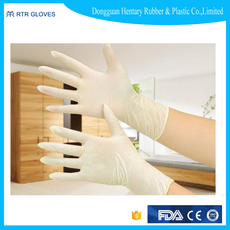 latex working glove powder free or powder for safety