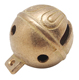 "high quality 1"" diameter soild brass jingle bells with polishing surface"